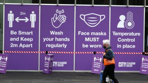 coronavirus signs Glasgow