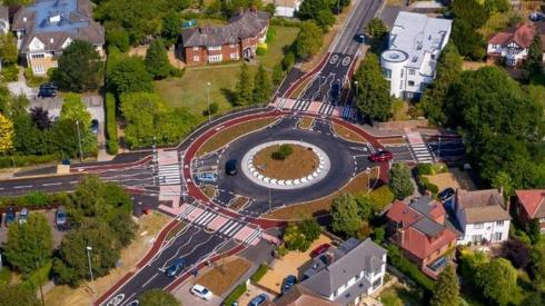 Dutch-style roundabout in Cambridge