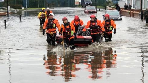 Flooding in Bentley