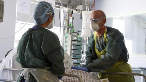 Doctors in the intensive treatment unit of Frimley Park Hospital in Surrey