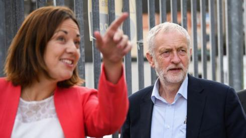 Kezia Dudgale and Jeremy Corbyn