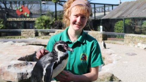 Keeper with penguin