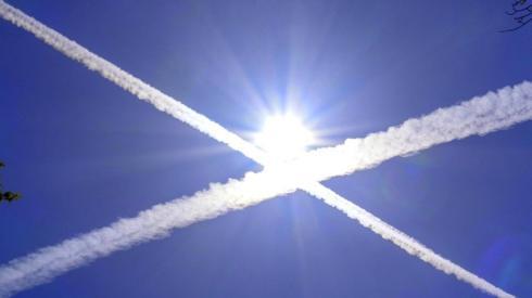 Saltire in sky