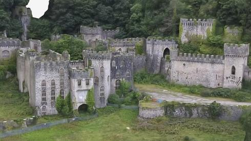Gwrych Castle in Conwy County, Wales