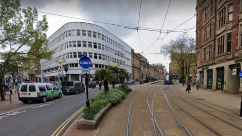 High Street area of Sheffield