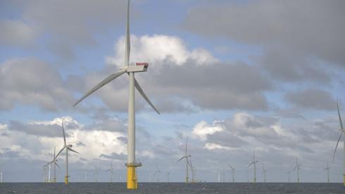 Gwynt y Mor wind farm off the coast of north Wales