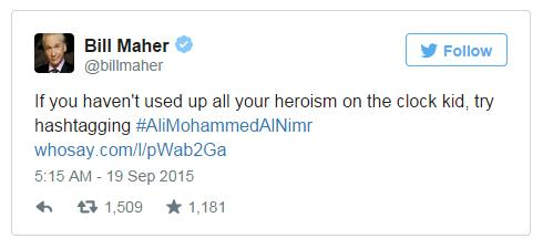 If you haven't used up all your heroism on the clock kid, try hashtagging #AliMohammedAlNimr