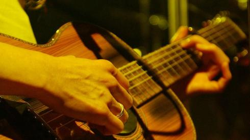 A guitar player