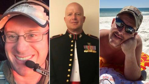 The victims (from left) were Ian McBeth, Paul Clyde Hudson and Rick A DeMorgan Jr
