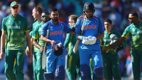 India and South Africa take to the field for their World Cup game