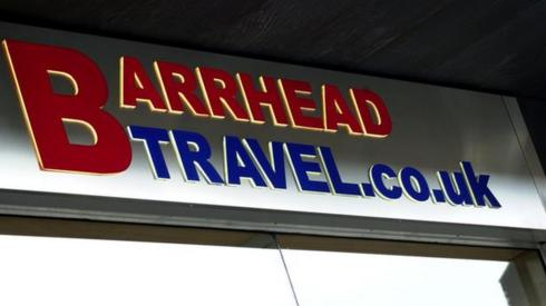 Barrhead Travel sign