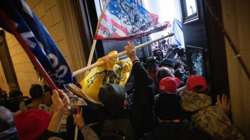A pro-Trump mob breaks into the U.S. Capitol on January 06, 2021 in Washington, DC.