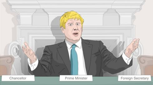 Illustration of Boris Johnson
