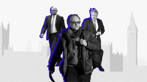 Illustration of Dominic Cummings, Sajid Javid and PM Boris Johnson