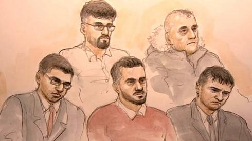 L-R : Nazeem Akhtar, Mohammad Rizwan, Mohammed Ali Sultan, Amjad Hussain, Shafiq Younas