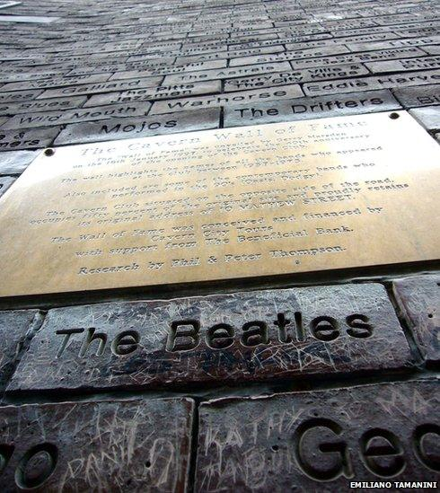 The Beatles brick near The Cavern in Liverpool