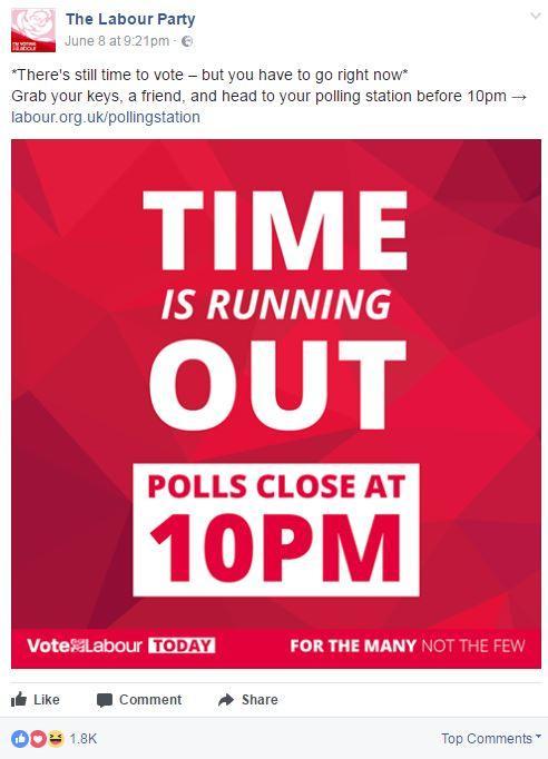 Labour Facebook ad
