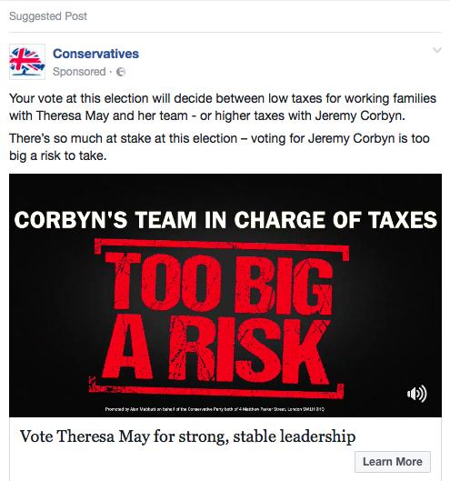 A Conservative attack advert targeted at a voter in Bishop Auckland.