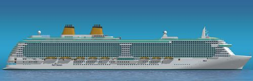 Artists impression of P&O cruise liner