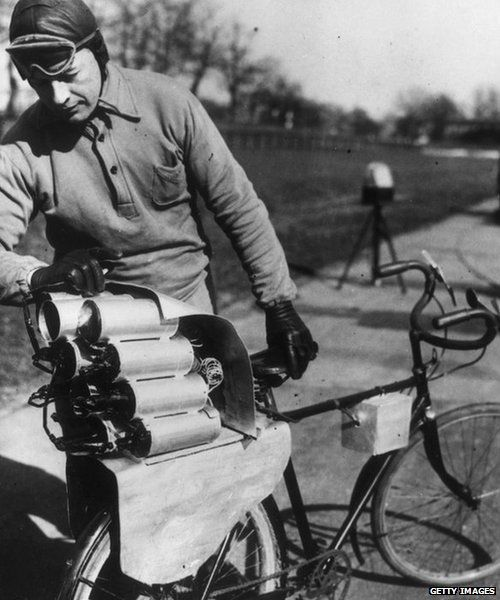 Rocket-propelled bicycle
