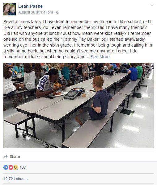 Leah Paske's original Facebook post