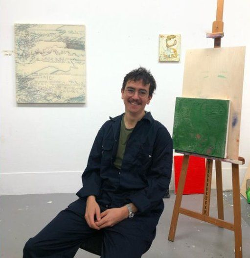 Ed Compson in studio