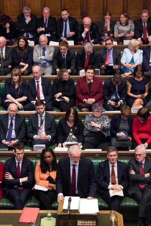 Jeremy Corbyn speaking in the Commons