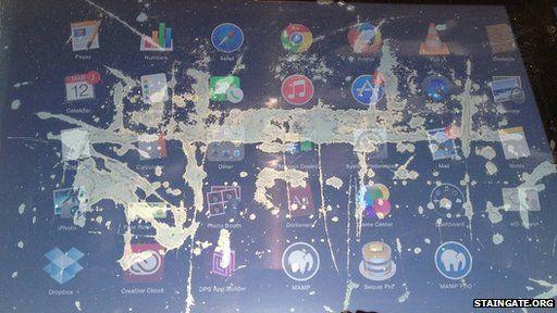 damaged Macbook screen