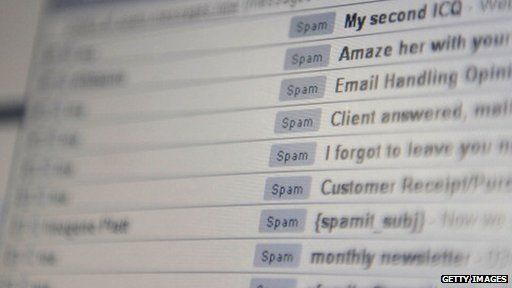 Spam in email inbox