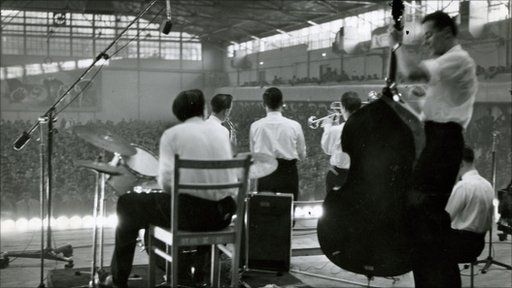Dave Burman Jazz Group playing on stage in Poland