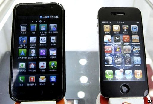 Samsung Galaxy S and iPhone 4