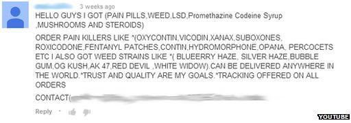 YouTube drugs advert