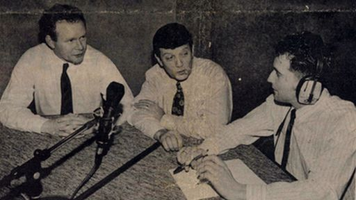 Reporter Kevin Sharkey was the first broadcaster to conduct an on-air interview with members of Sinn Féin