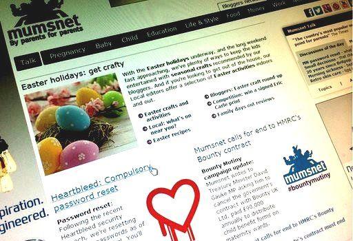 Mumsnet homepage