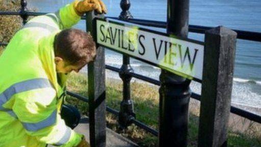 Savile street sign in Scarborough