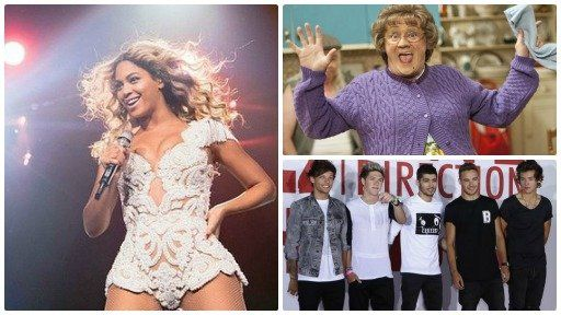 Beyonce, Mrs Browns Boys a One Direction
