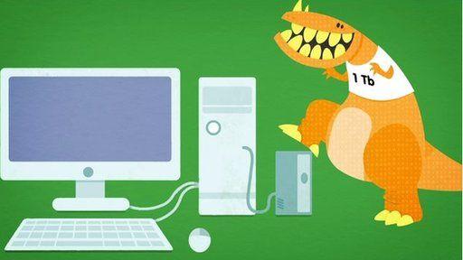 Digital dinosaur