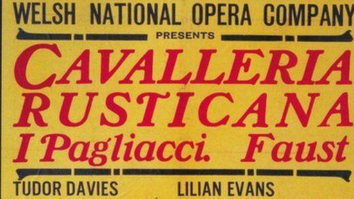 Poster ar gyfer perfformiad cyntaf y WNO yn 1946