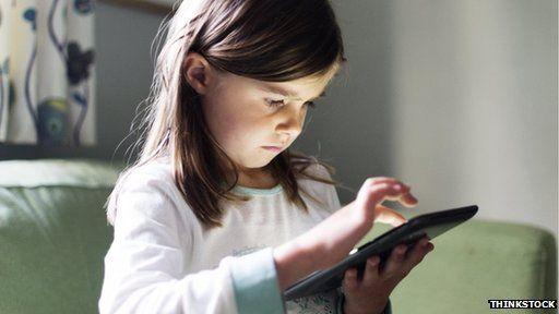 Girl on tablet