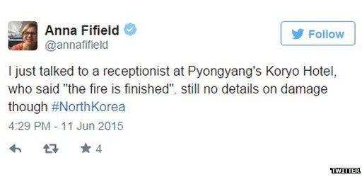 Tweet by Washington Post's Anna Fifield