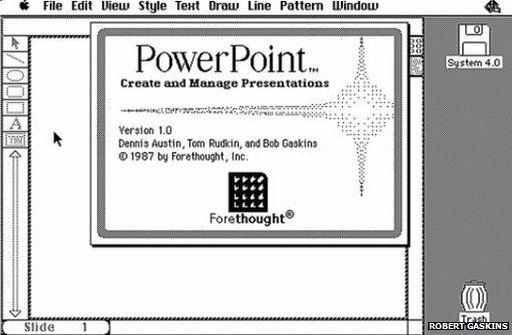 PowerPoint 1.0 screenshot