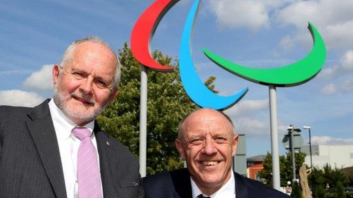 Sir Philip Craven and Tim Reddish OBE chairman of the British Paralympic Association