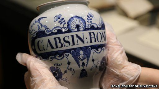 Delftware Apothecary Jar from 1740.
