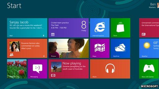 Windows 8 splash screen