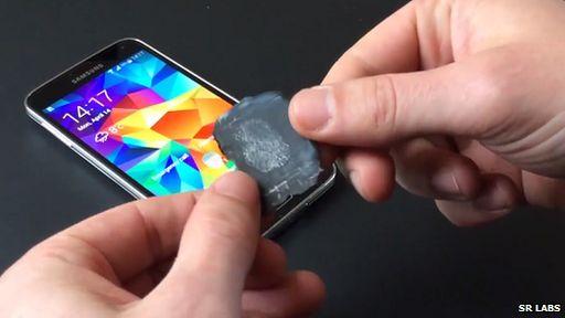 Galaxy S5 and fingerprint mould