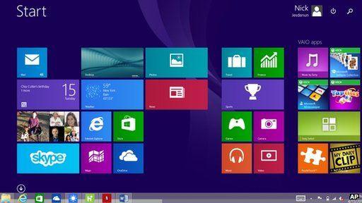 Windows 8.1 screen
