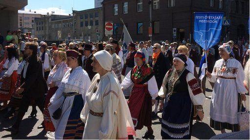 Gorymdaith yn Estonia