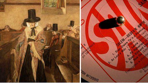 Salem - Llun enwog Curnow Vosper a'r record gafodd ei hysbrydoli ganddo