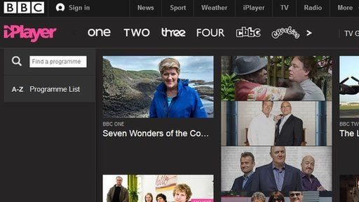 Main iPlayer page