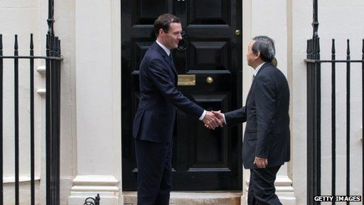 George Osborne meeting Chinese Vice President Ma Kai